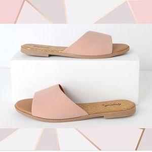 NEW!✨Blush Pink Flat Slip On Sandals
